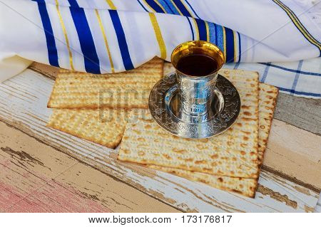 Wine And Matzoh Jewish Bread Passover Matzo Passover Wine