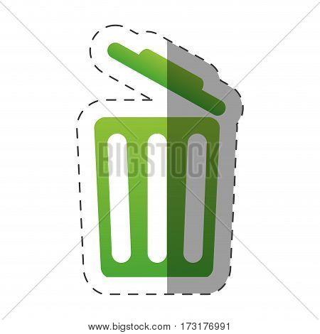 open trash can environment design vector illustration eps 10