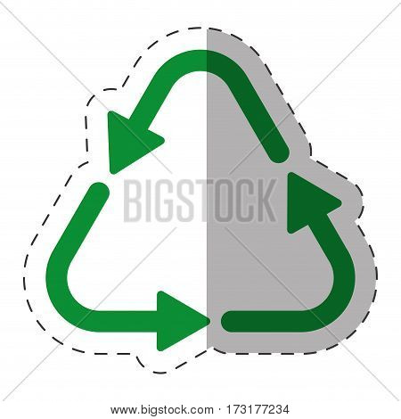 green arrow recycle environment cut line vector illustration eps 10