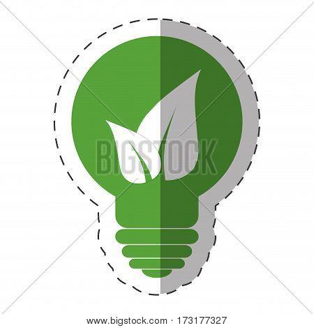 environment bulb leave light vector illustration eps 10