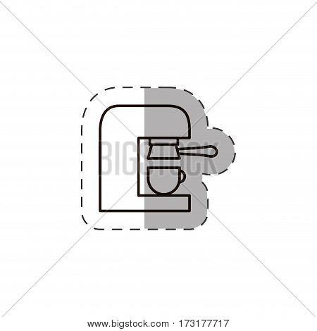 coffee maker hot beverage line vector illustration eps 10