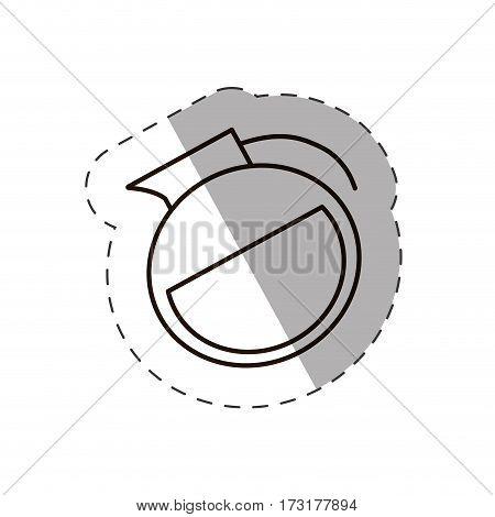 glass coffee pot hot line vector illustration eps 10