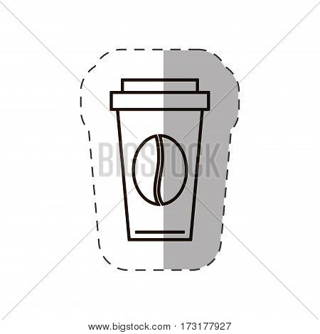 paper coffee cup bean disposable vector illustration eps 10