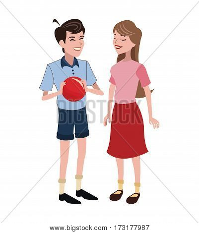 brother and sister family vector illustration eps 10