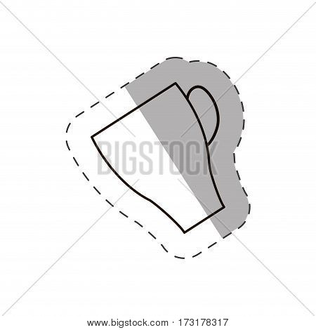 coffee cup beverage hot line vector illustration eps 10
