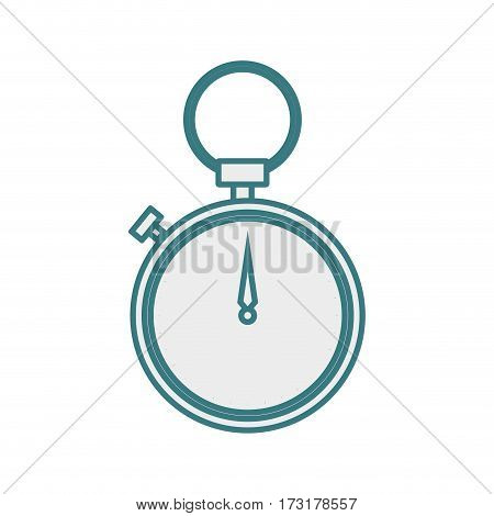 monochrome contour of chronometer with hanging vector illustration