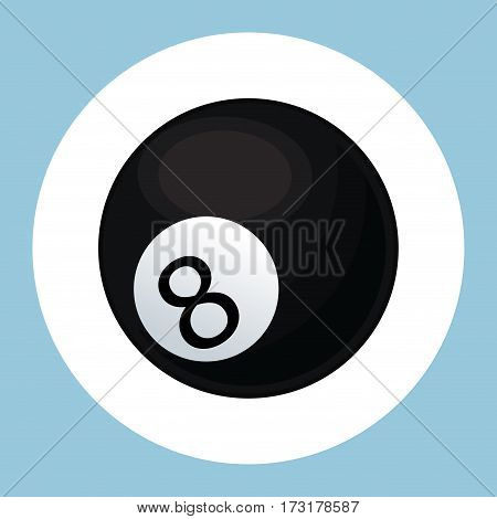 billiard ball black eight icon vector illustration eps 10