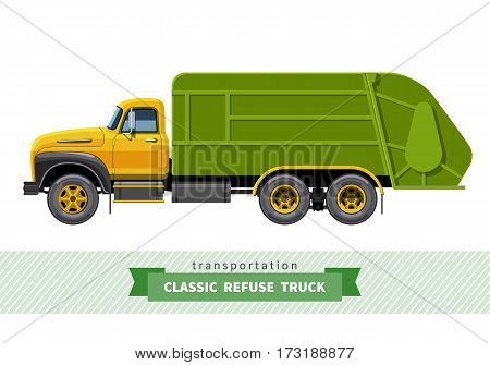 Classic Refuse Heavy Duty Truck Side View
