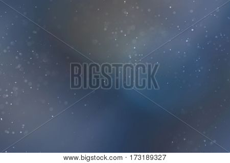 Abstract Dust Particles on Colorful Background. Narrow Depth of Field. Illustration.
