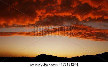 Majestic mountains landscape panoramic view with copy space