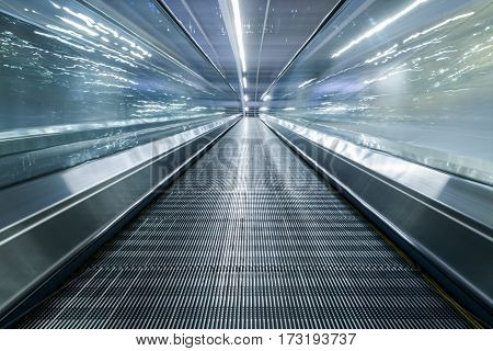 Moving Walkway At Airport in Shenzhen,China .