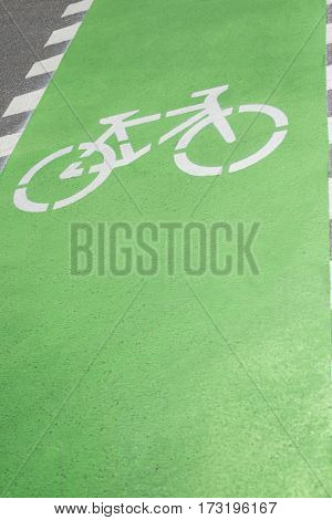 Cycle lane on road surface, backgrounds