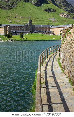 Lake in Nuria Valley (the Pyrenees-Orientales) - Catalonia Spain