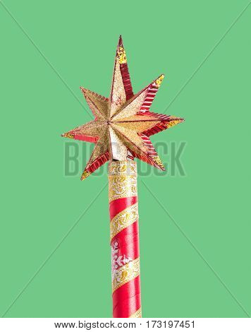 Beautiful stick Santa Claus with a star on top