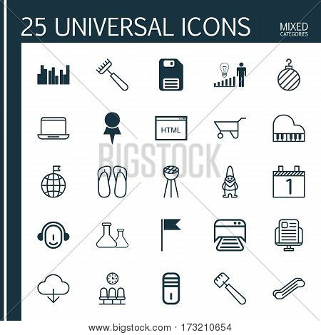 Set Of 25 Universal Editable Icons. Can Be Used For Web, Mobile And App Design. Includes Elements Such As Employee, Spatula, Blog Page And More.