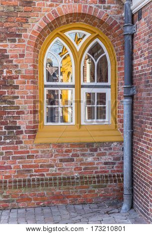 Window In The Historical A Kerk Church Of Groningen
