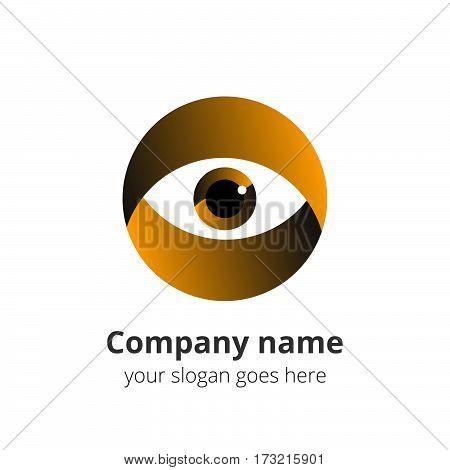 Eye Logo design vector template. Colorful gradient media icon. Creative Vision Logotype concept. Yellow Eye Logo vision.