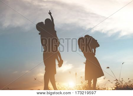 background, beach, butterfly, colorful sunset, concept, couple, family, happy, holiday, lovers, man, people, romantic, romantic couple, silhouette woman, sunset, the beach, vintage, wedding, woman