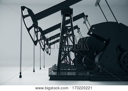 Oil Pumpjacks Side
