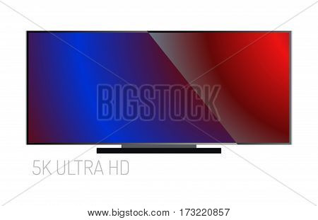 TV screen lcd monitor template electronic device technology digital size diagonal display and video modern plasma home computer vector illustration. Hdtv entertainment high liquid movie equipment.