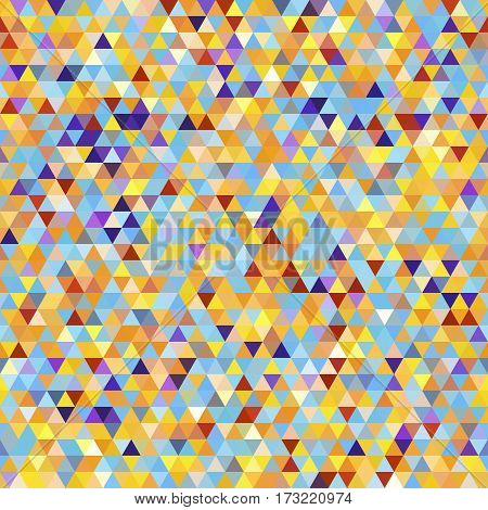 Abstract Seamless Pattern with Color Triangles. Geometric Concept. Backdrop for yor Pages Covers Flyers Placards.