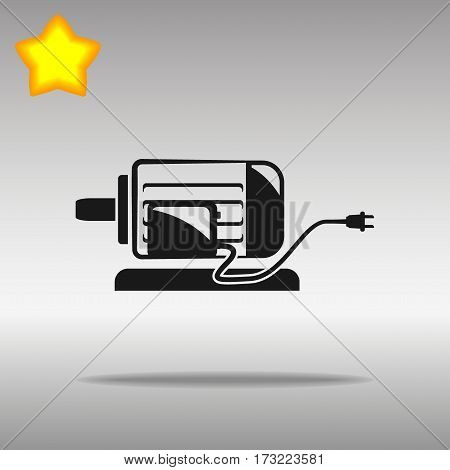 black Electric motor Icon button logo symbol concept high quality on the gray background