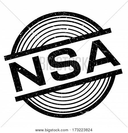 Nsa rubber stamp. Grunge design with dust scratches. Effects can be easily removed for a clean, crisp look. Color is easily changed.