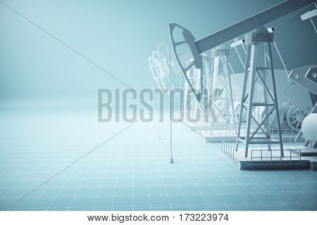 Oil Derricks Side