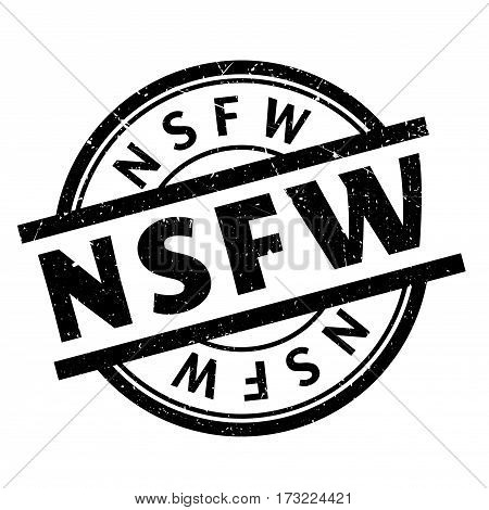 Nsfw rubber stamp. Grunge design with dust scratches. Effects can be easily removed for a clean, crisp look. Color is easily changed.