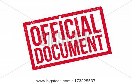 Official Document rubber stamp. Grunge design with dust scratches. Effects can be easily removed for a clean, crisp look. Color is easily changed.