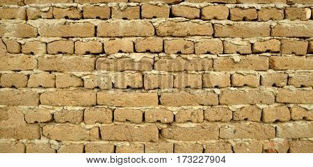 Mud Adobe Wall Texture - Wall For Background Or Texture Of Mud