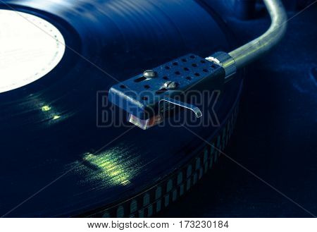 Vinyl On The Record Player.