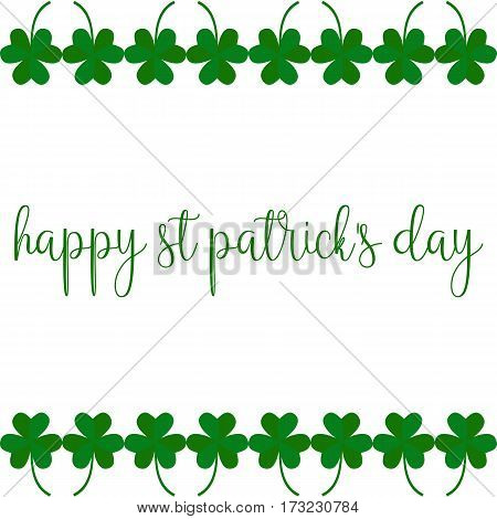 Greeting card on St. Patricks day. Picture ready for use in St. Patrick holiday thematic
