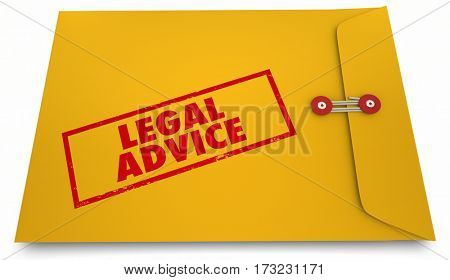 Legal Advice Lawyer Attorney Information Envelope 3d Illustration