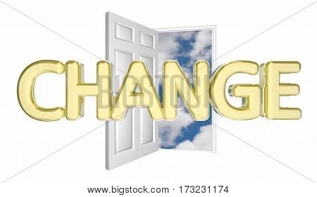 Change Door Opening Adapt Evolve Innovate Disrupt 3d Illustration