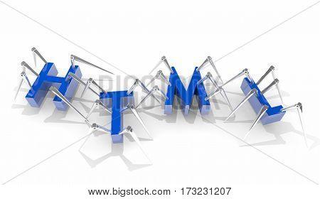 HTML Website Internet Programming Language Developer 3d Illustration