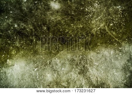 Ice, ice texture, abstract ice background, scabrous ice pattern, green ice