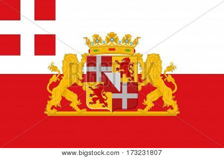 Flag of Utrecht is a province of the Netherlands