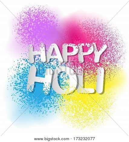 Gulal for Happy Holi invitation and greeting card