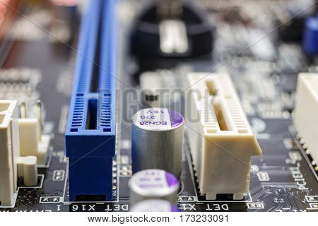 Slots for installation of PCI devices on the motherboard