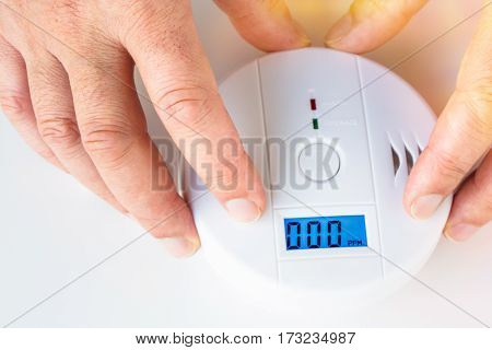 Installation Of A Smoke And Fire Alarm With Carbon Monoxide Sensor Capability