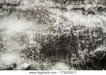 Ice, ice texture, abstract ice background, scabrous ice pattern, grunge ice, ice and snow