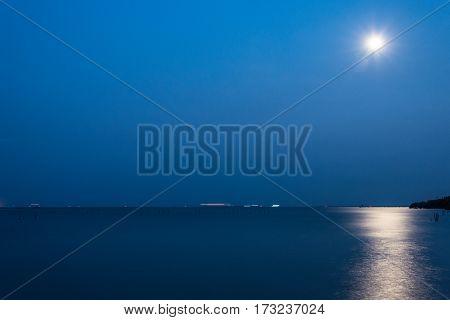 Full Moon Over The Gulf Of Thailand - Thai Gulf - Thailand