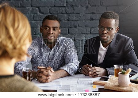 Human Resources, Career, Recruitment And Business. Two Confident And Successful African Hr Managers