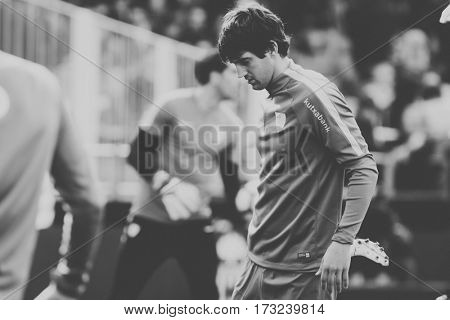 VALENCIA, SPAIN - FEBRUARY 19: Mikel San Jose during La Liga soccer match between Valencia CF and CD Athletic Club Bilbao at Mestalla Stadium on February 19, 2017 in Valencia, Spain