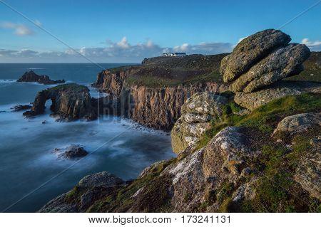 Cliff Edge, near Sennen, West Cornwall, England