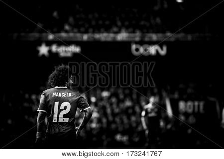 VALENCIA, SPAIN - FEBRUARY 22: Marcelo Viera Da Silva during La Liga soccer match between Valencia CF and Real Madrid at Mestalla Stadium on February 22, 2017 in Valencia, Spain