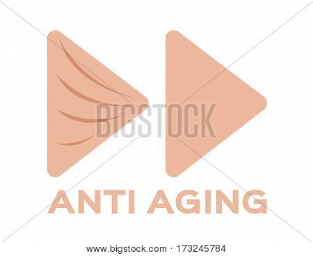 anti aging skin icon and vector on white background