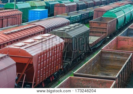 Freight train transporting goods to West Europe