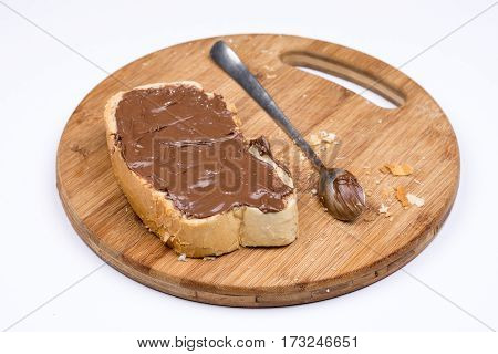 Chocolate Nougat Cream On The Bread